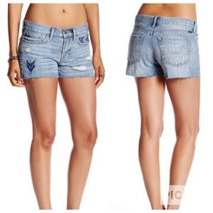 Lucky Brand The Cut Off Embroidered Shorts
